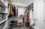 Upstairs bedroom closet