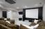 Basement living/theater room