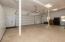 Garage with a plethora of storage cabinets