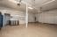 Garage with storage cabinets