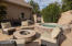 Fire pit and hot tub