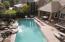 Aerial pool/waterfall/patio