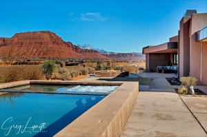 TREMENDOUS VIEWS FROM THE OUTDOOR KITCHEN AND POOL AREA.