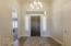 Front entry w/hardwood flooring.
