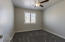 Bedroom w/plantation shutters and upgraded ceiling fan w/remote control.