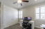 Bedroom w/plantation shutters and upgraded fan w/remote control.
