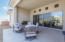 Back porch with upgraded double sliding patio doors for inside/outside experience.