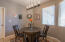 Dining area off of kitchen