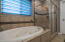 Master bath with jetted tub and separate shower