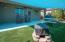 Backyard with shade up