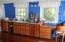 Built-in desk and storage in Studio