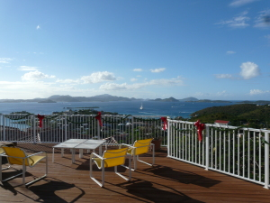 Enighed Gardens has stunning views to St. Thomas