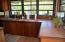 Custom mahogany cabinetry in kitchen