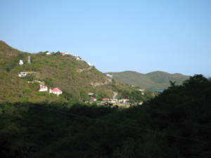 View of valley with a partial view of Coral Bay in distance