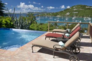 Pool area with amazing harbor & sunsets