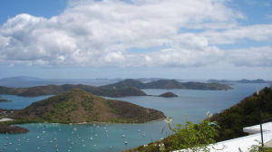 VIEW OVER EAST END TO VIRGIN GORDA