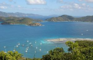 Panoramic Views overlooking Johnson Bay & the BVI's