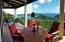 covered deck with views of National Park land and bays and BVI's