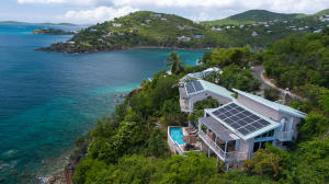 Very private and serene setting with classic Maria Bluff views over the Caribbean Sea