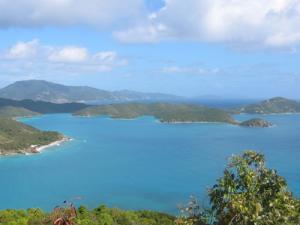 View east - Hurricane Hole & Tortola, BVI