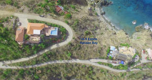 View of the property from above. Please refer to the topo map in documents for lot lines.