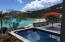 Refreshing sapphire pool, just steps to pristine snorkeling from the beach at Klein Bay