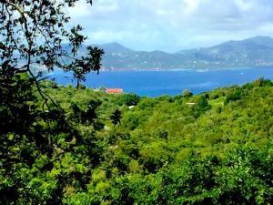 View over Pillsbury Sound to St. Thomas