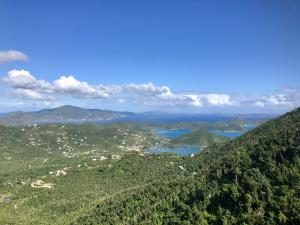 View from Deck over Coral Bay down the BVI chain;