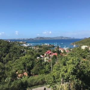 View from the edge of the hurricane damaged property located on St. John USVI