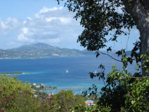 VIEW OVER CRUZ BAY TO ST THOMAS