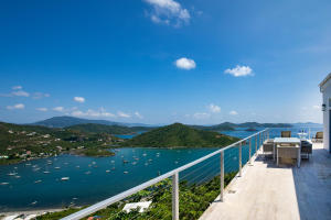 Views past the East End to Tortola, Norman Island and beyond to Virgin Gorda