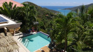 Views of Coral Bay from pool