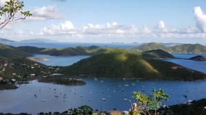 Breathtaking view from Coral Bay to the British Virgin Islands