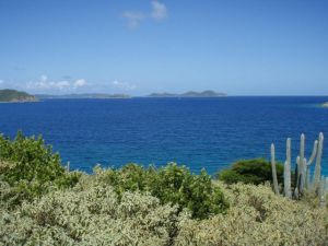 View to the British Virgin Islands