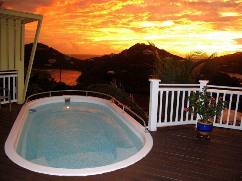 Fiery Sunset from Pool