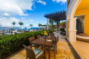 Alfresco Dining overlooking Cruz Bay over to St. Thomas at Villa Siena