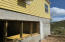 Concrete area below house - excellent space for shop or studio