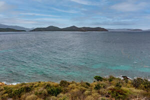View to the East End of St. John with the British Virgin Islands island chain in the background.