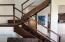 Mahogany Staircase to Loft Sleeping Area