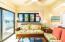 Living room area features queen sleeper sofa