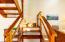 Staircase to loft sleeping area