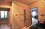 Double door bathroom, with separate powder room