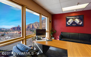 Fabulous views to enjoy while you are working. Executive desk included in price.