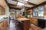 Kitchen, island and much storage