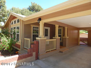 Front porch with ample entry way.