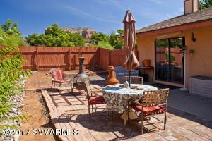 Red Rock views, paved patio