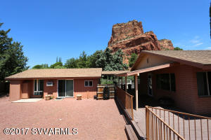 Large back deck with elevated sitting area to enjoy red rock views. Fully fenced back yard.