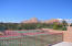 Tennis Courts-Hard to keep your eye on the ball for the views!