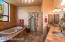 Master Bath with double sinks, separate shower and spa tub.