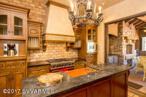 Enjoy cooking for your guests in this beautiful chef's kitchen.
